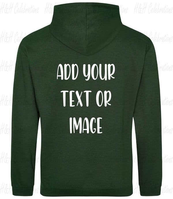 Forest Green Adults Personalised Hoodie